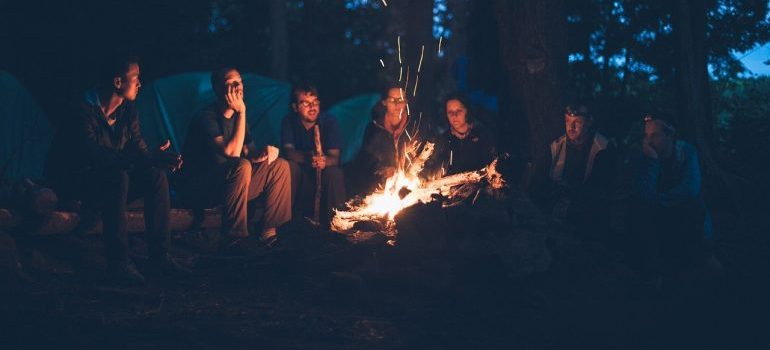 A group of friends on a camping trip.