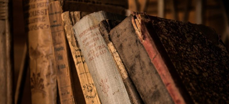 Antique books - protecting them is one of the reasons to get portable storage units.