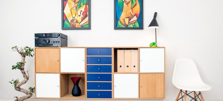 A living area after you free up room in your self storage container by taking some of your belongings home.