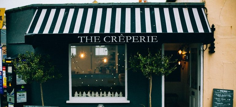 A small creperie.
