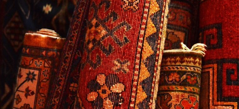 some of the items you should move from your attic to self storage - rugs